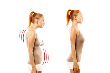 falsche und richtige Körperhaltung